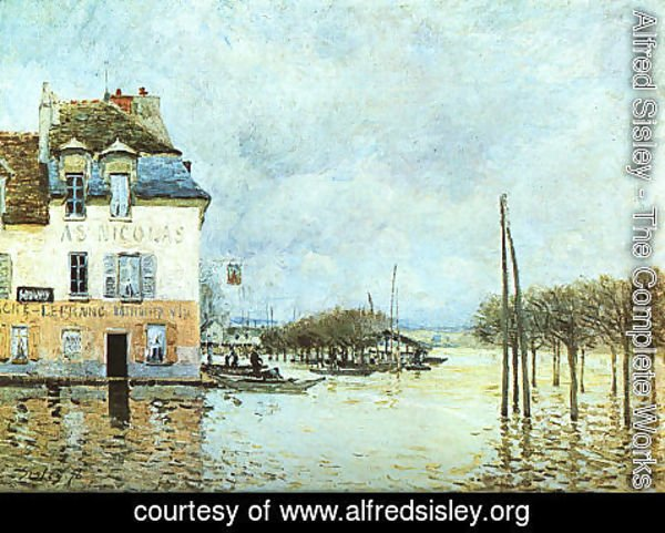 Alfred Sisley - Flood at Pont-Marley 1876