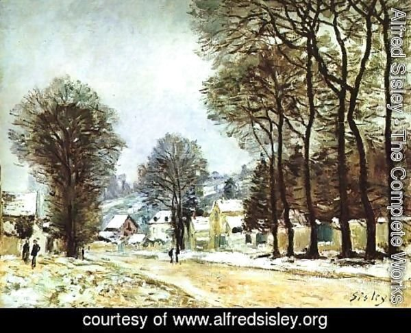 Alfred Sisley - Snow at Louveciennes 1874
