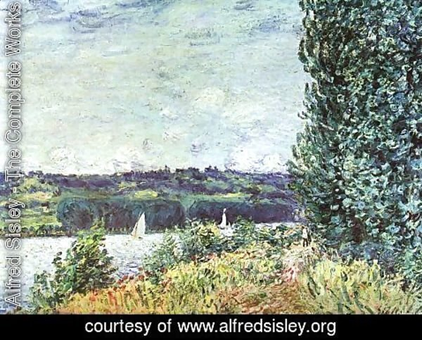 Alfred Sisley - The Banks of the Seine- Wind Blowing 1894