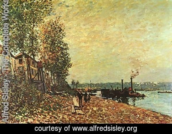 Alfred Sisley - The Tugboat 1883