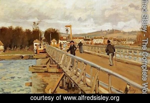 Alfred Sisley - Footbridge at Argenteuil, 1872