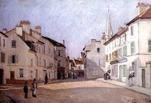 Alfred Sisley - Rue de la Chaussee at Argenteuil, 1872