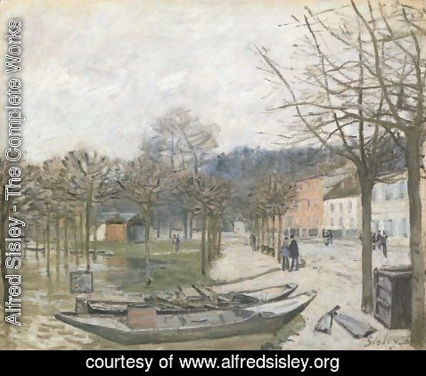 Alfred Sisley - The Flood at Port-Marly, 1876