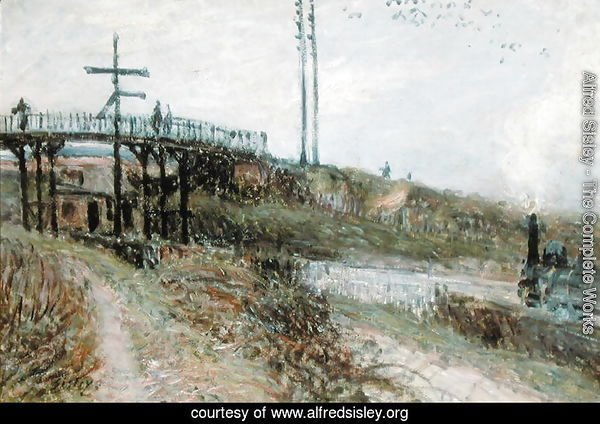 The Footbridge over the Railway at Sevres, c.1879