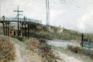 Alfred Sisley - The Footbridge over the Railway at Sevres, c.1879