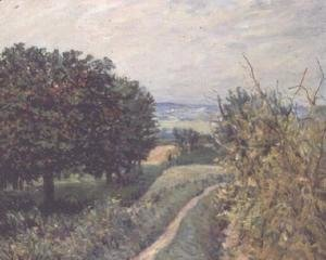 Alfred Sisley - In the Vineyards at Louveciennes, 1874