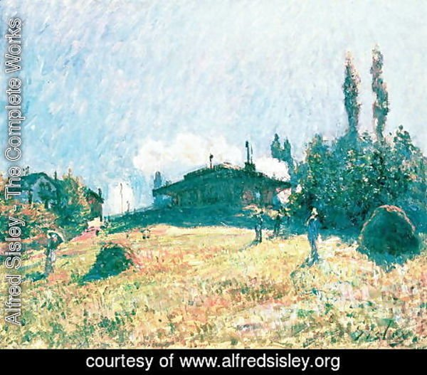 Alfred Sisley - The Station at Sevres