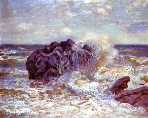 Alfred Sisley - The Wave, Lady's Cove, Langland Bay, 1897