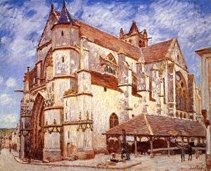 Alfred Sisley - The Church at Moret, Evening, 1894