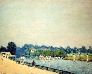 Alfred Sisley - The Road to Hampton Court, 1874