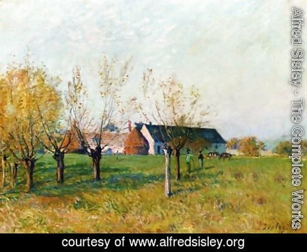 Alfred Sisley - The Farm, 1874
