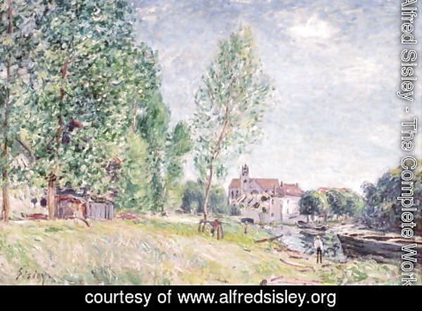 Alfred Sisley - The Builder's Yard at Matrat, Moret-sur-Loing
