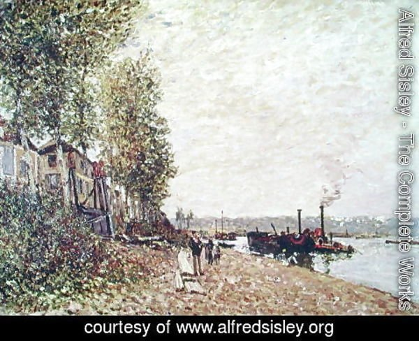 Alfred Sisley - Steam Boats on the Loing at Saint-Mammes, 1877