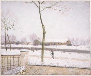 Alfred Sisley - Railway Yards at Moret (Effet de Neige)