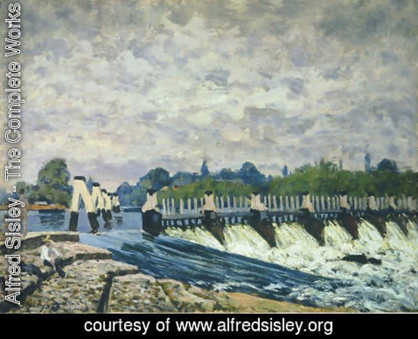 Alfred Sisley - Molesey Weir Hampton Court, 1874