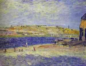 Alfred Sisley - River Banks at Saint-Mammes, 1884