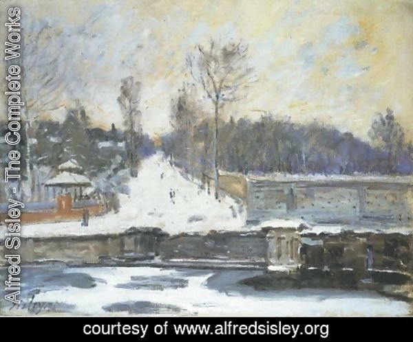 Alfred Sisley - The Watering Place at Marly-le-Roi, 1875