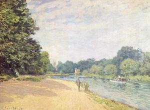 Alfred Sisley - The Thames with Hampton Church, 1874