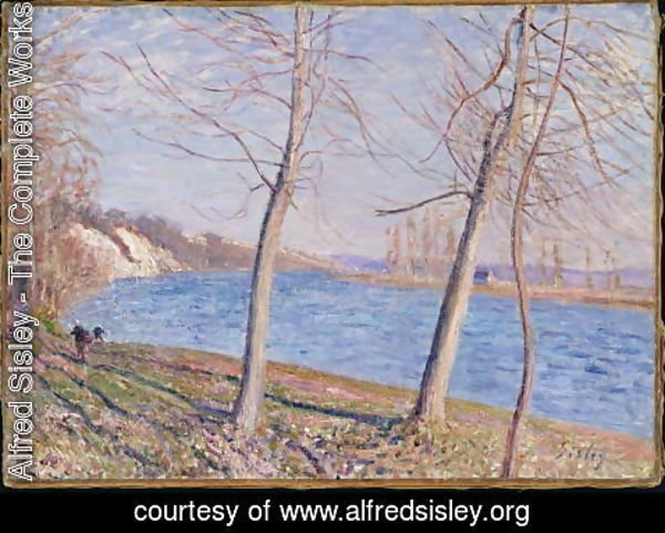 Alfred Sisley - The Banks of the River at Veneux, 1881