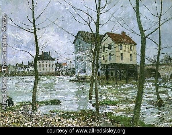 The Mills at Moret-sur-Loing, Winter, 1890