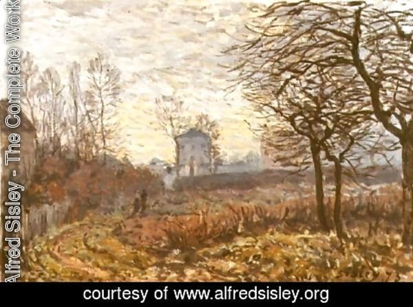 Alfred Sisley - Landscape near Louveciennes, 1873