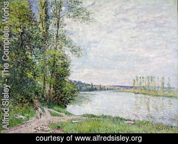 Alfred Sisley - The Riverside Road from Veneux to Thomery, 1880