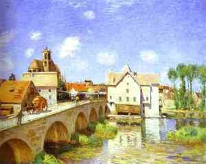 Alfred Sisley - The Bridge at Moret, 1893