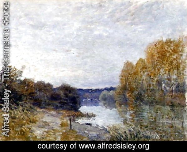 Alfred Sisley - Soleil Couchant, or Autumn Evening on the River, 1895