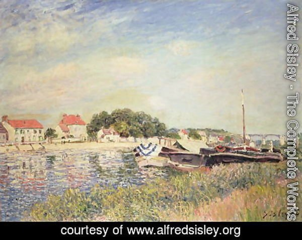 Alfred Sisley - The Banks of the Loing at Saint-Mammes, 1885