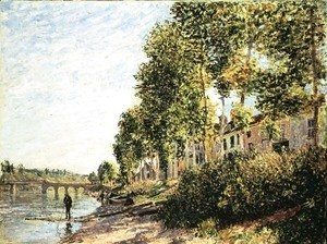 Alfred Sisley - Morning Sun at Saint-Mammes, 1884