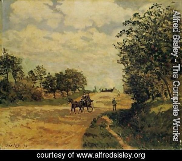 Alfred Sisley - The Road from Mantes to Choisy le Roi, 1872