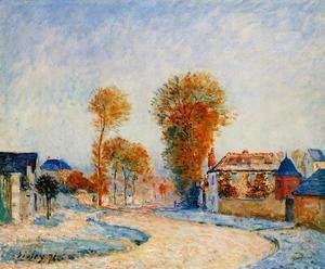 Alfred Sisley - The First White Frost, 1876