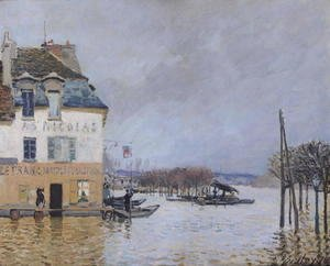 Alfred Sisley - The Flood at Port-Marly, 1876 2