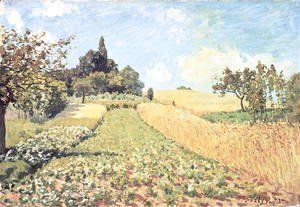 Alfred Sisley - Wheat Field