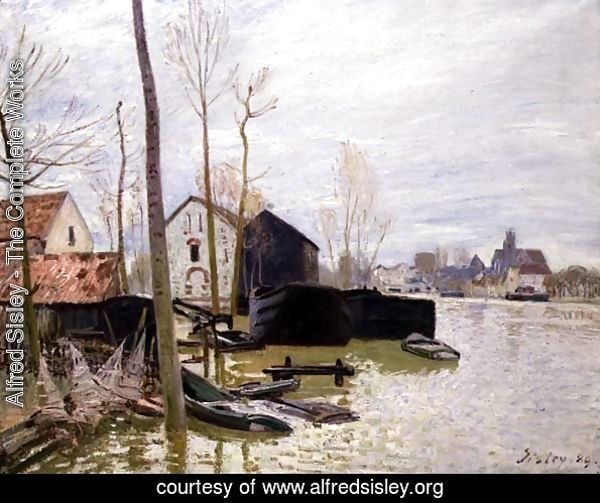 The Floods at Moret-sur-Loing, 1889