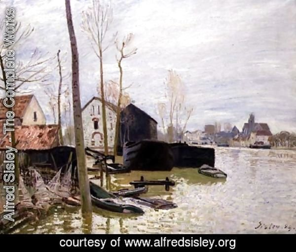 Alfred Sisley - The Floods at Moret-sur-Loing, 1889