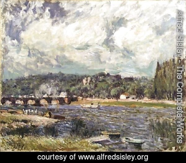 Alfred Sisley - The Bridge at Sevres, c.1877