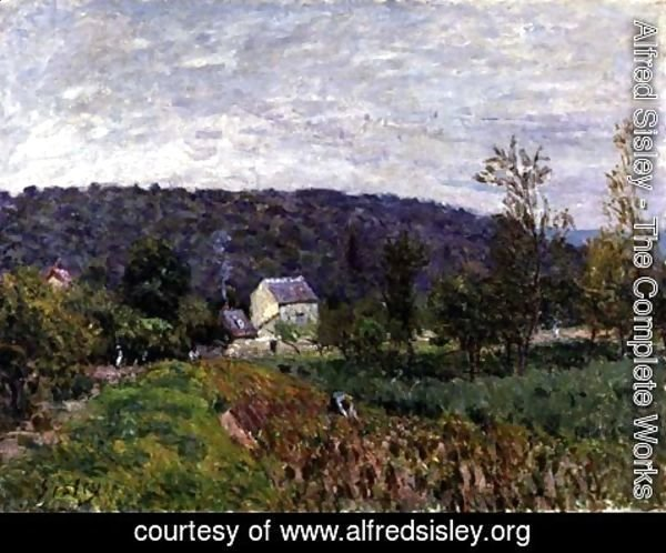 Alfred Sisley - Autumn Evening on the Outskirts of Paris, 1879