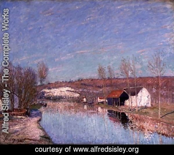 Alfred Sisley - The Loing and the Slopes behind St. Nicaise, February Afternoon, 1890