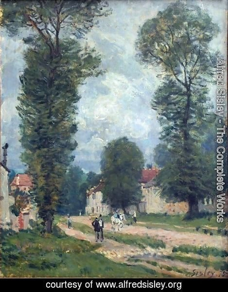 Alfred Sisley - The Road to Marly-le-Roi, or The Road to Versailles, 1875
