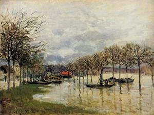Alfred Sisley - The Flood on the Road to Saint-Germain, 1876