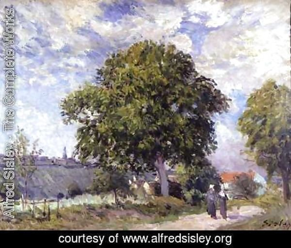 Alfred Sisley - The Entrance to the Village, c.1880