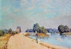 Alfred Sisley - The Road to Hampton Court, 1895