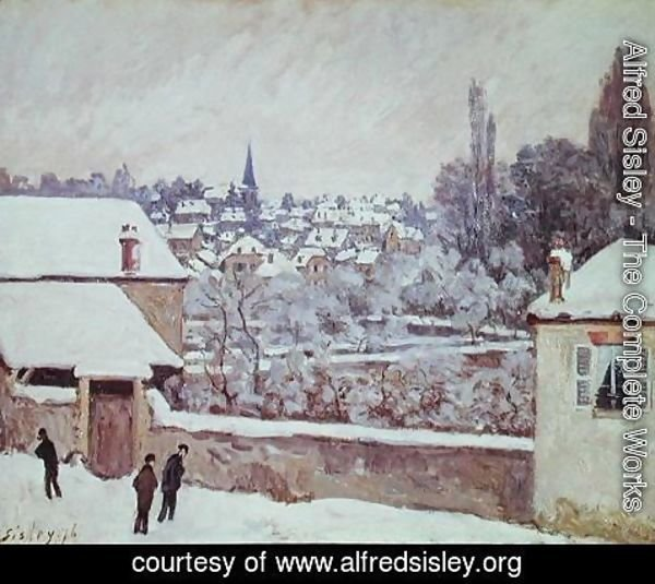 Alfred Sisley - Winter in Louveciennes, 1876