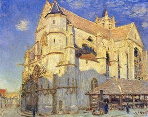 Alfred Sisley - The Church at Moret, Frosty Weather, 1893
