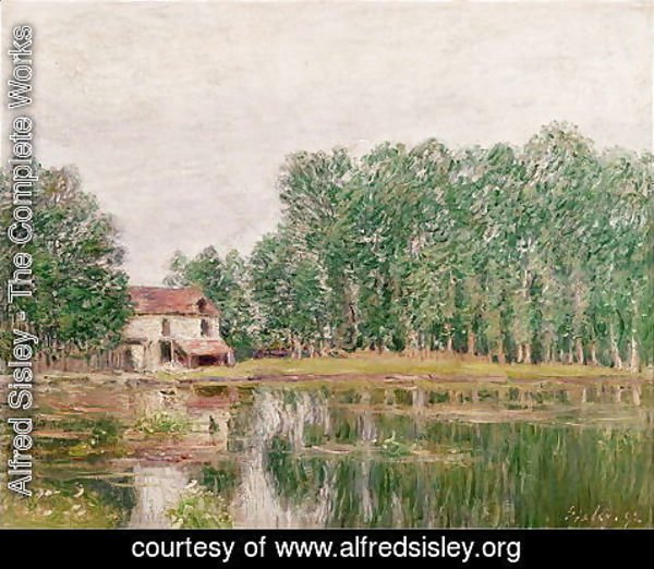 Alfred Sisley - The Banks of the Canal at Moret-sur-Loing, 1892