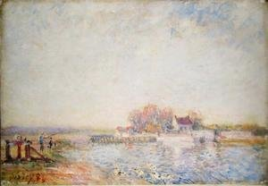 Alfred Sisley - River Scene with Ducks, 1881