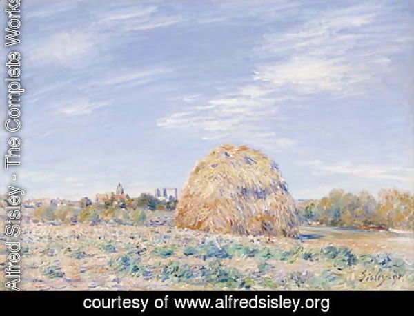 Alfred Sisley - Haystack on the Banks of the Loing, 1891