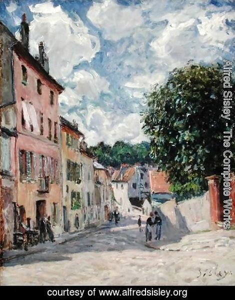 Alfred Sisley - A Street, possibly in Port-Marly, 1876