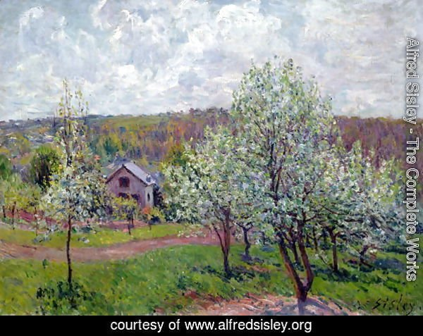 Spring in the Environs of Paris, Apple Blossom, 1879